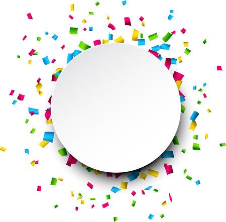 Kleurrijke viering achtergrond met confetti. Vector Illustratie. Stockfoto - 27332645