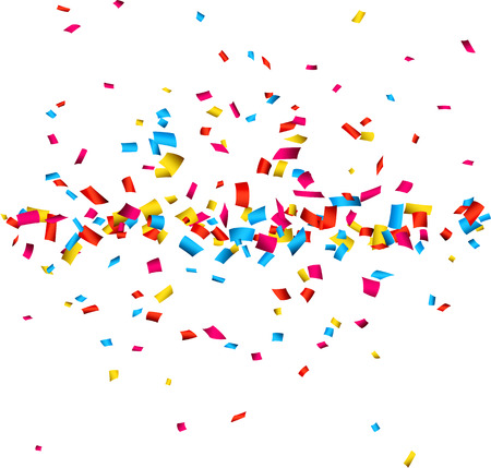 Colorful celebration background with confetti. Vector Illustration. Vector