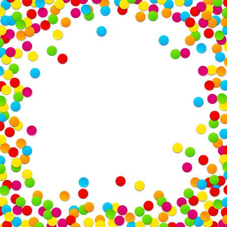 fun festival: Colorful celebration background with confetti. Vector Illustration. Illustration
