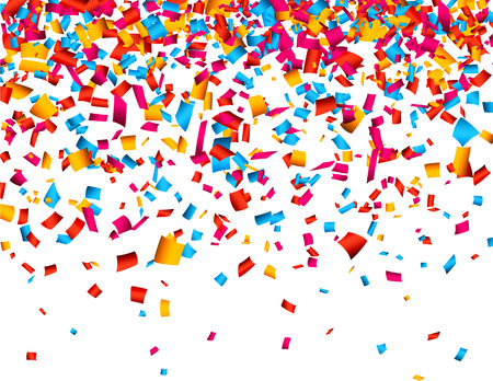 Colorful celebration background with confetti. Vector Illustration. Illustration