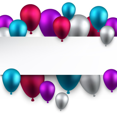 Celebration background with colorful balloons. Vector illuustration.