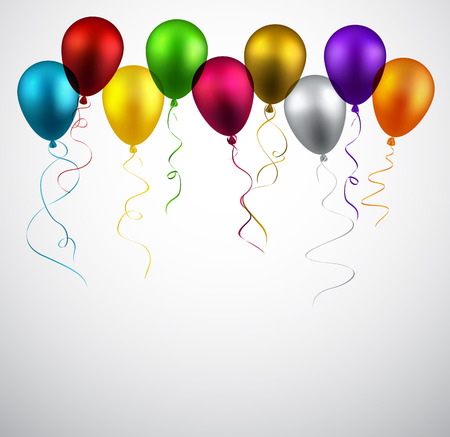 Celebration background with colorful balloons. Vector illustration.  Vector