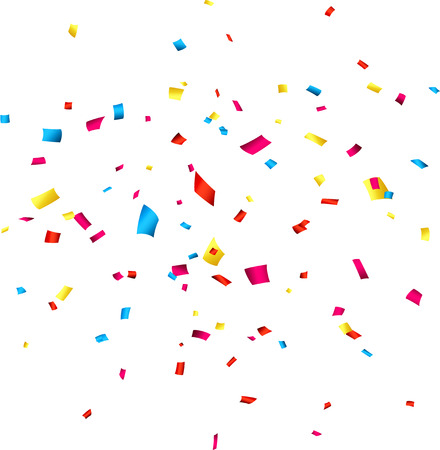 falling:  Colorful celebration background with confetti. Vector Illustration.