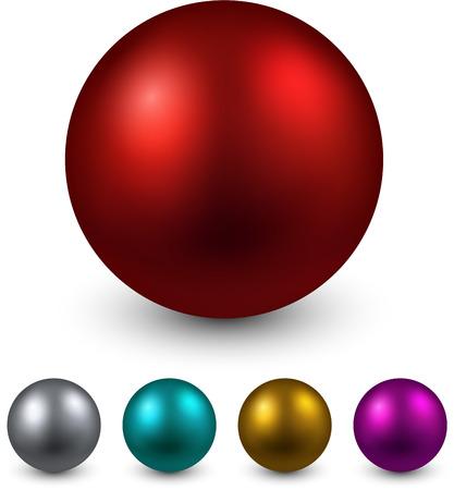 Set of realistic shiny colorful balls. Vector illustration.   Vector