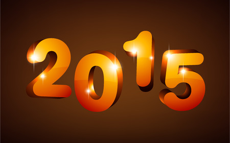 happy new year text: 3d text 2015 happy new year design.