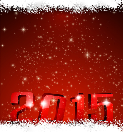 3d 2015 happy new year background. Vector christmas illustration. Vector