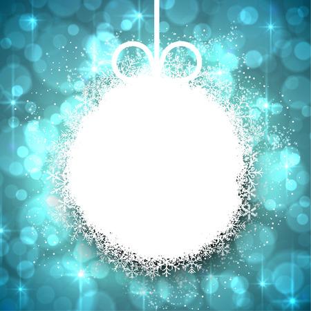크리스마스 공: Winter background. Glowing snowflakes. Christmas ball. Vector.  일러스트