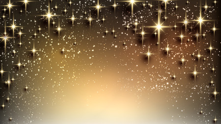 Christmas abstract texture background. Holiday illustration with stars and sparkles. Vector.  Vector
