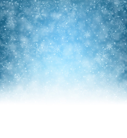 december background: Winter pattern with crystallic snowflakes. Christmas background. Vector.