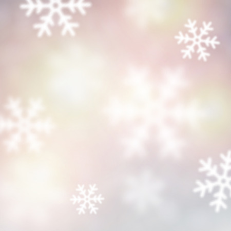 greetingcard: Blurred winter background with defocused snowflakes. Christmas illustration.  Illustration