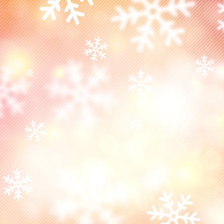 backgroud:  Blurred winter background with defocused snowflakes. Christmas illustration.  Illustration
