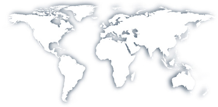 World map with shadow. Vector illustration.   Vector