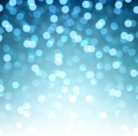 background texture: Blue defocused christmas background. Bright bokeh. Vector illustration.