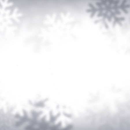 Blurred winter with defocused snowflakes. Christmas illustration.  Vector