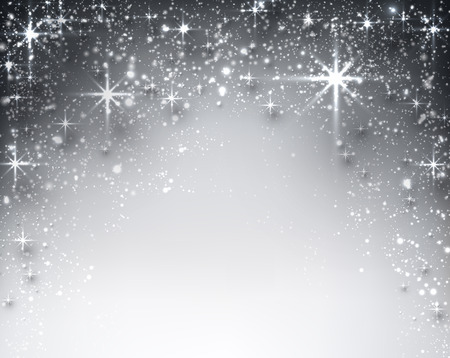 glimmer: Shiny starry christmas background. Vector Illustration.
