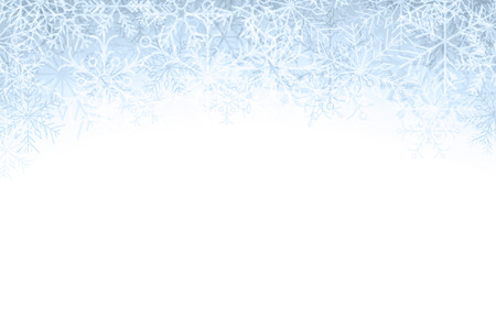 Winter pattern with crystallic snowflakes. Christmas background. Vector. Vector
