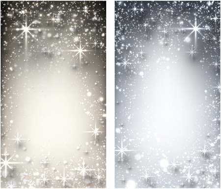 Shiny starry vertical christmas banners. Vector Illustration. Vector
