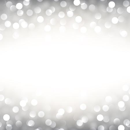 Silver defocused christmas background. Bright bokeh. Vector illustration. Vector