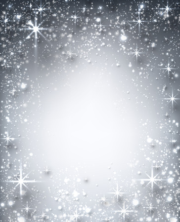 Shiny starry christmas background. Vector Illustration. Vector