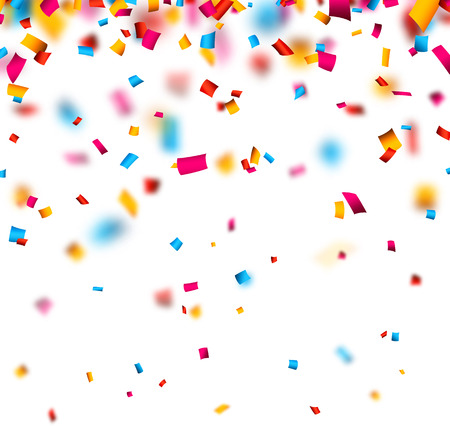 Colorful celebration background with defocused confetti. Vector illustration. Vector