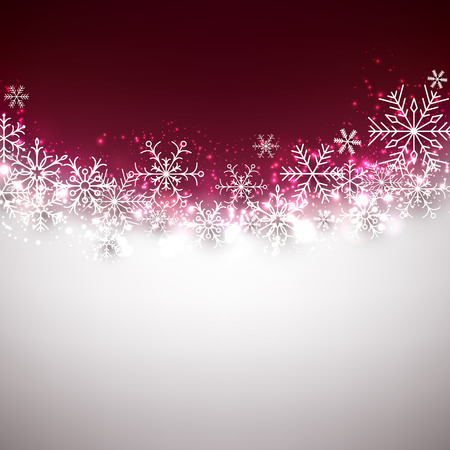 Winter background. Fallen snowflakes. Christmas. Vector.  イラスト・ベクター素材