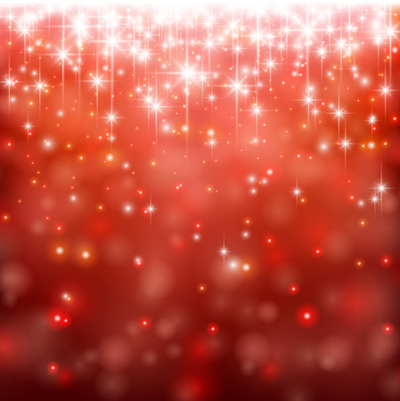 red wallpaper: Red winter abstract background. Christmas background with snowflakes and sparkles. Vector.