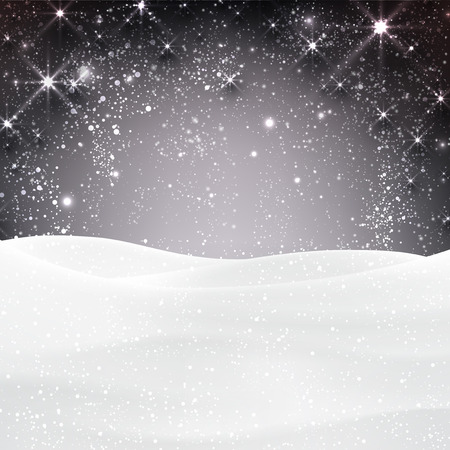 Winter background with snow. Christmas snow surface. Eps10 vector illustration. Vector