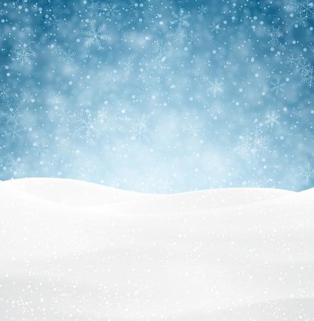 diciembre: Fondo del invierno con nieve. Superficie de la nieve de la Navidad. Ilustración vectorial Eps10. Vectores