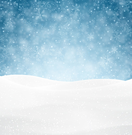 Winter background with snow. Christmas snow surface. Eps10 vector illustration. Reklamní fotografie - 32942127