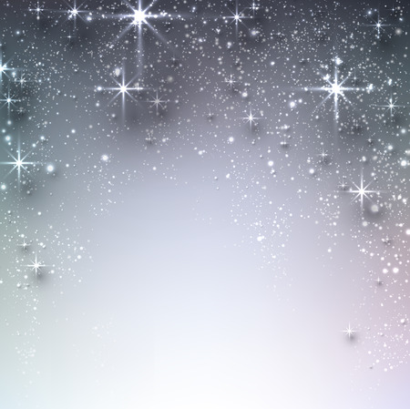 Shiny starry christmas background. Vector