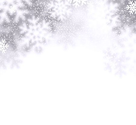 Christmas background with defocused snowflakes. Vector illustration. Vector