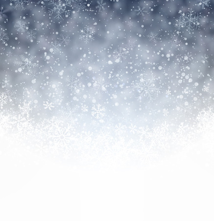 Silver winter abstract background. Christmas background with snowflakes. Vector. Vector