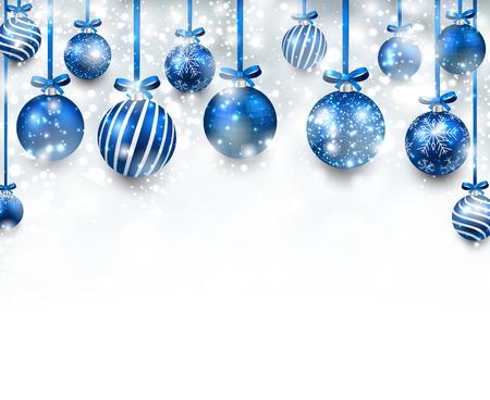 블루 크리스마스 공와 추상 호 배경입니다.