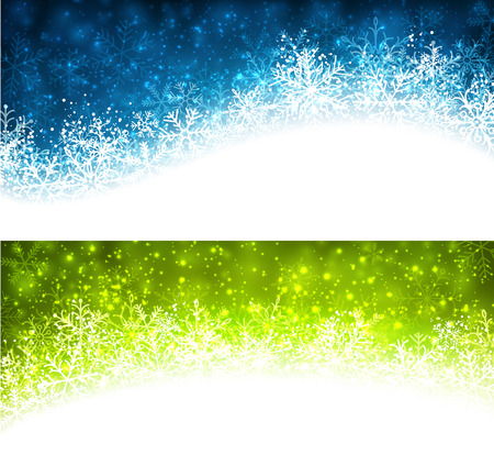Colored winter abstract banners. Vector