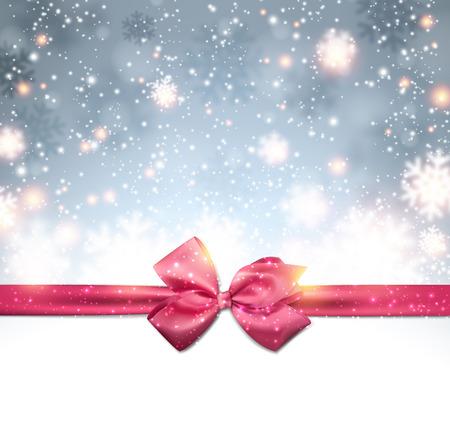 fallen: Winter silver background. Fallen defocused snowflakes. Christmas. Vector. Illustration