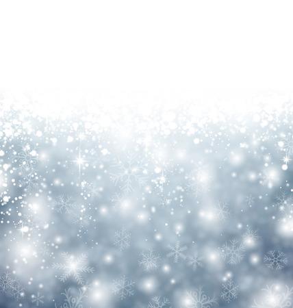 Winter background. Fallen defocused snowflakes. Christmas. Vector. Vector