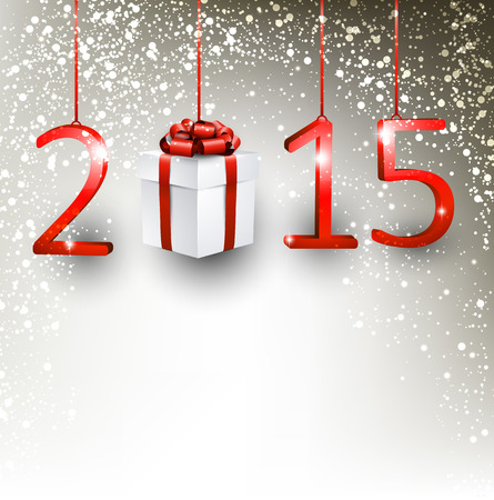 2015 new year gift background. Vector illustration. Vector