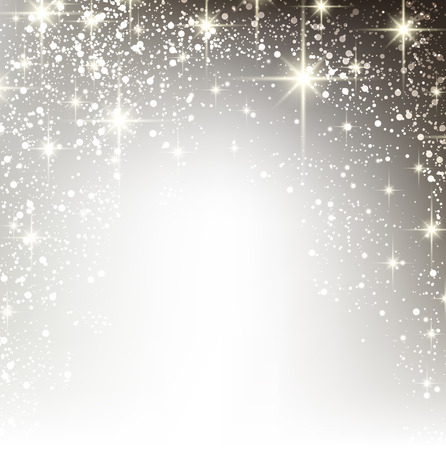 Shiny starry christmas background. Vector Illustration.