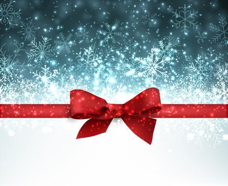 Winter blue background. Fallen defocused snowflakes. Christmas. Vector. Vector