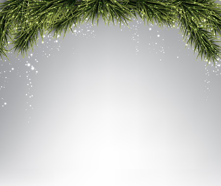 twigs: Winter abstract background with spruce twigs. Christmas vector wallpaper. Eps10.