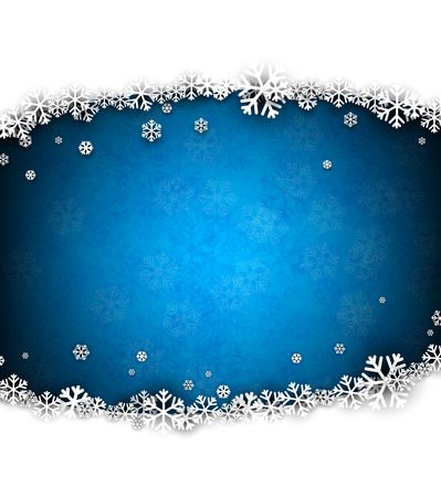 twinkles: Blue winter abstract background. Christmas background with snowflakes. Vector. Illustration