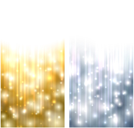 silver star: Winter abstract vertical banners. Christmas background with snowflakes and sparkles. Vector. Illustration