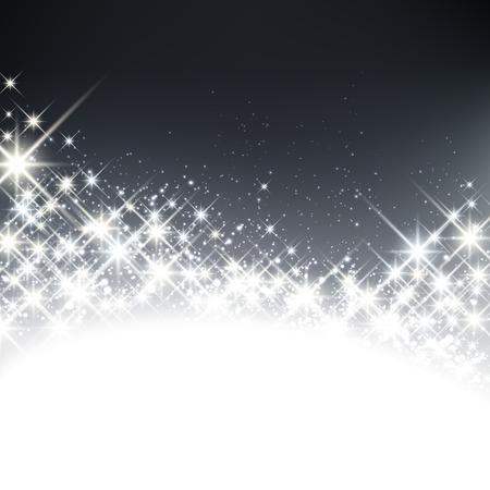 twinkling: Shiny starry christmas background. Vector winter Illustration. Illustration