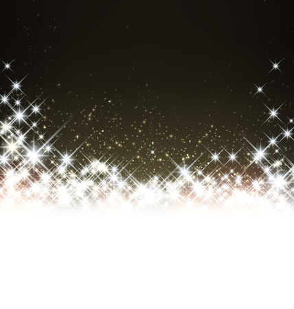 glimmer: Shiny starry christmas background. Vector winter Illustration. Illustration