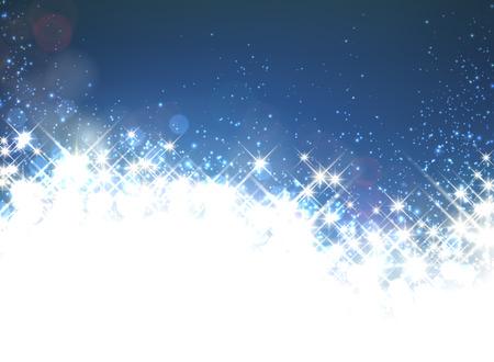 Shiny starry christmas background. Vector winter Illustration. Illustration