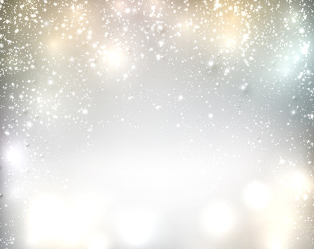 sparkle background: Silver winter abstract background. Christmas background with snowflakes. Vector.