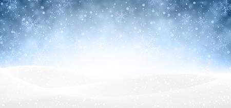 Banner van de winter met sneeuw