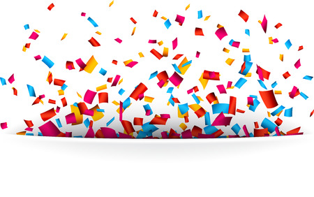 celebrate: Colorful celebration background with confetti. Vector Illustration. Illustration