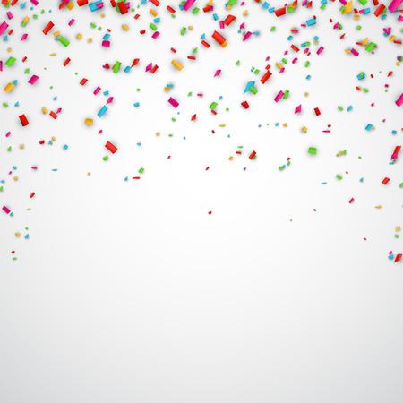 kutlama: Konfeti ile renkli kutlama arka plan. Vektör Çizim. Çizim