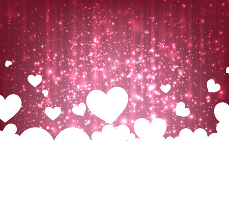 valentine passion: Love greeting card with sparkles. Vector illustration.
